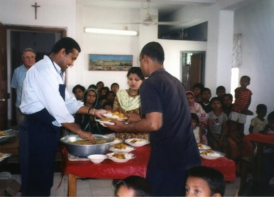Duleep Serving the Children at Beth Myriam Dhaka