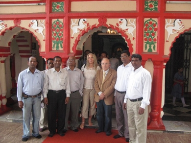 Outside the Hindu Temple