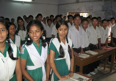 A Classroom at the True Life in God School in Kulun