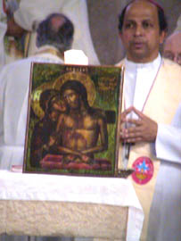 Bishop Anil Couto, icons were blessed after the Liturgy
